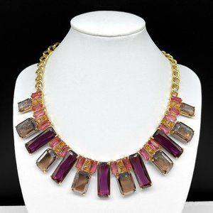 NEW Carolee Pink Purple Rhinestone Necklace